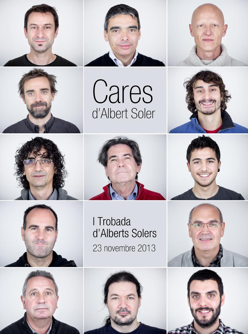 Les 13 cares dels Alberts Solers que van assistir a la trobada.
