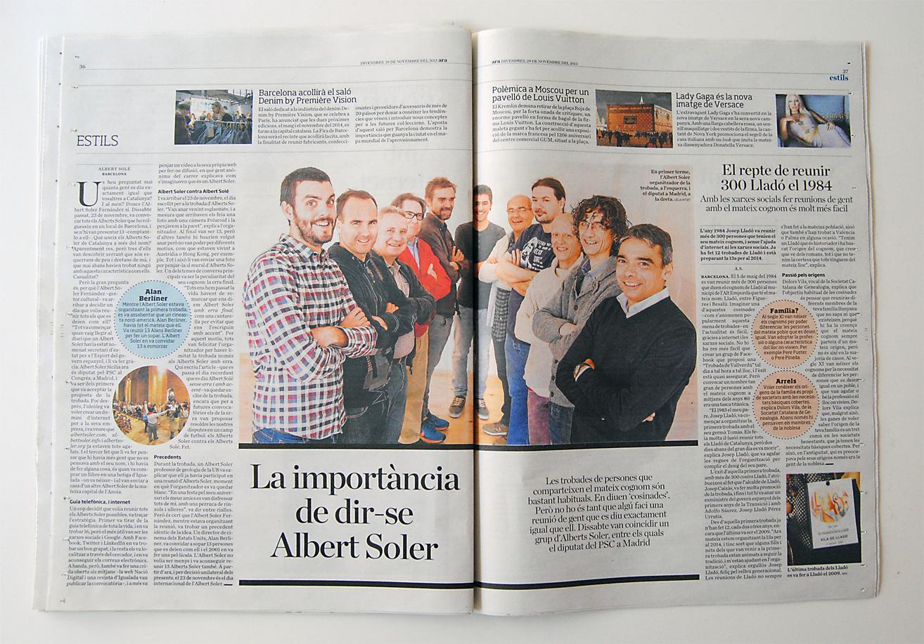 Reportatge a l'edició en paper del diari Ara